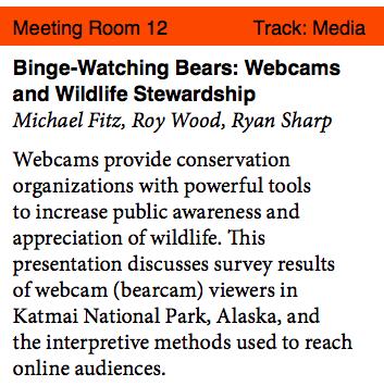 screen shot of description of conference presentation