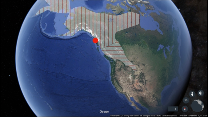 screen capture of Earth with clades of bears outlined.