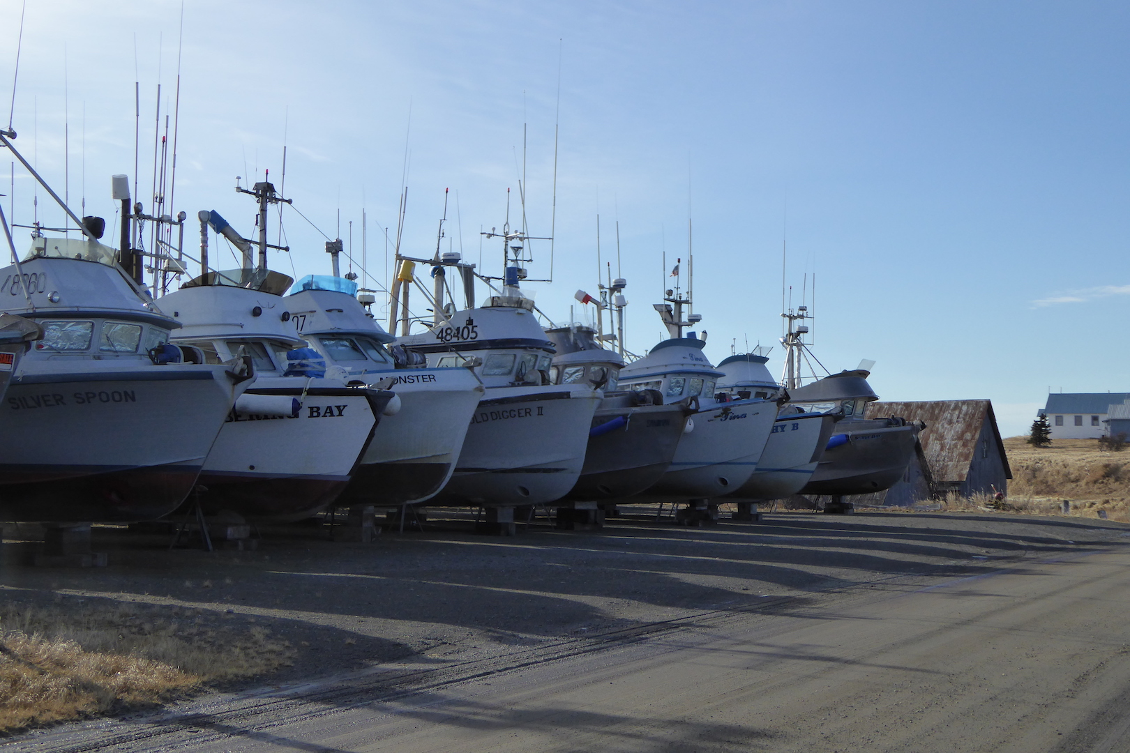 Salmon fishing boats in Naknek